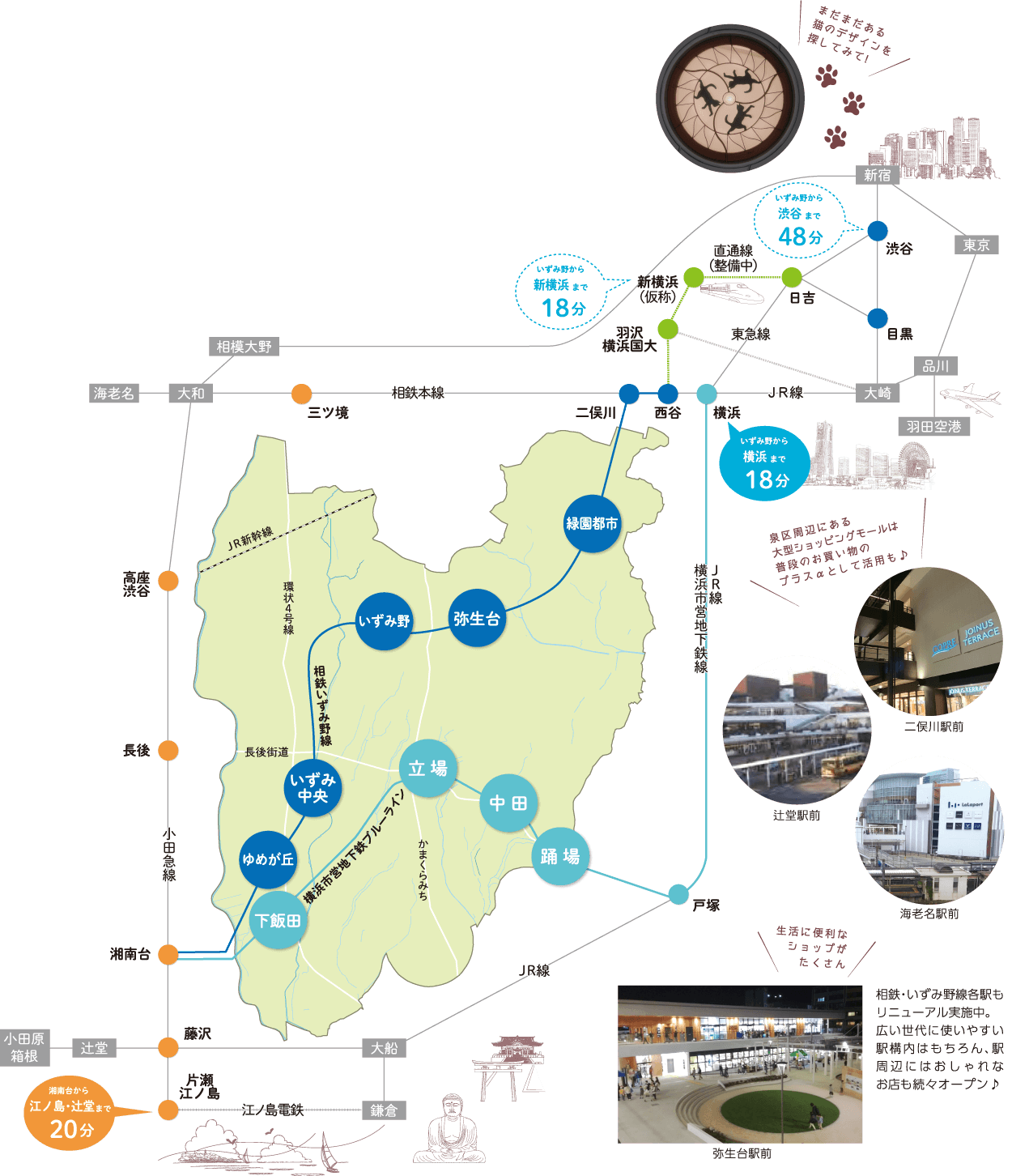 泉区の地図